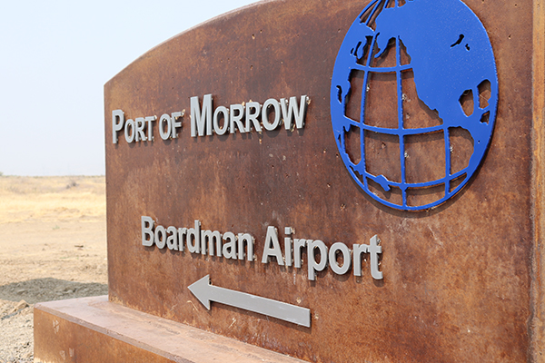 Port of Morrow Airport Sign
